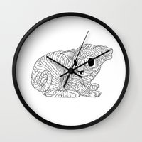 sphynx Wall Clocks featuring Sphynx  by Camelo