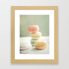 Pretty Macarons Framed Art Print