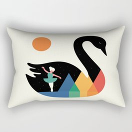 Swan Dance Rectangular Pillow
