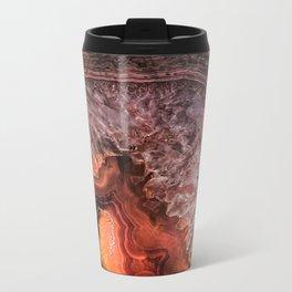 Copper Brown Agate Mineral Gemstone Geode Metal Travel Mug