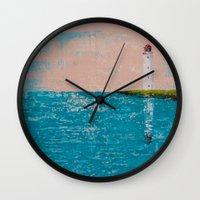 yin yang Wall Clocks featuring YIN YANG by Olga Krokhicheva