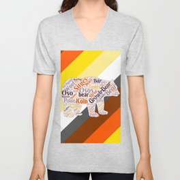 Gay bear art queer gift idea bear pride season  Unisex V-Neck