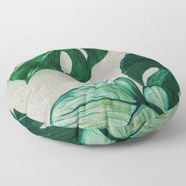 monsteras - coloured pencils Floor Pillow