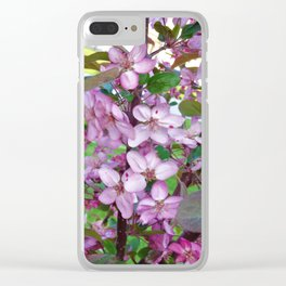 Profusion Crabapple 3 Clear iPhone Case