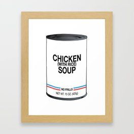 26 Chicken With Rice Framed Art Print
