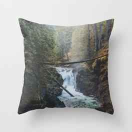 Little Qualicum Falls Throw Pillow