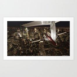 Fly me to New York Art Print