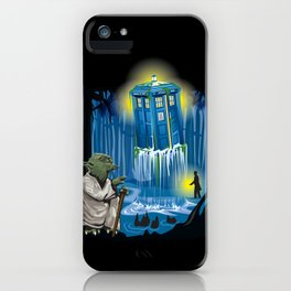 MAy the Tardis be with you! iPhone Case