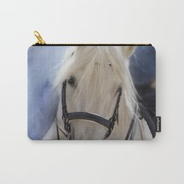 Painted White Horse head Carry-All Pouch