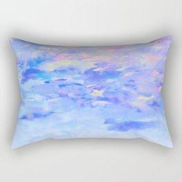 Blue Leaves under a Lavender Sky Rectangular Pillow
