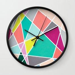 Geometric Spotlights Wall Clock