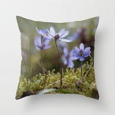 Anemone Hepatica  Throw Pillow