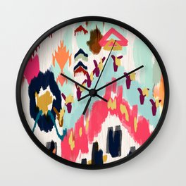 Bohemian Tribal Painting Wall Clock