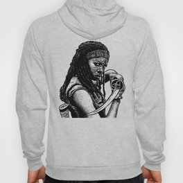 Drawing of Michonne from the Walking Dead Hoody