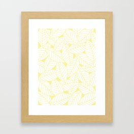 Leaves in Daisy Framed Art Print