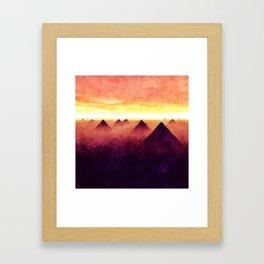 Pyramids At Sunrise Framed Art Print