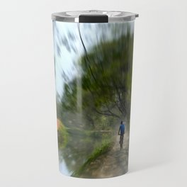 Epic Shot Cycling The Canal Route In Kerala, India Travel Mug
