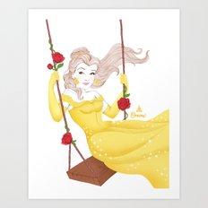Belle et la bête Art Print