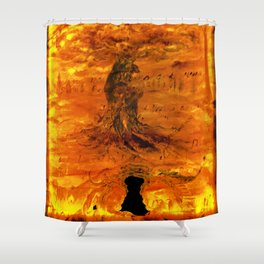Follow your dreams. Spiritual awakening Shower Curtain