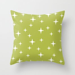 Mid Century Modern Star Pattern 443 Chartreuse Throw Pillow