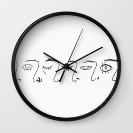 Aces of Faces Wall Clock