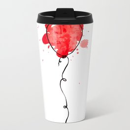 Red Balloon Metal Travel Mug