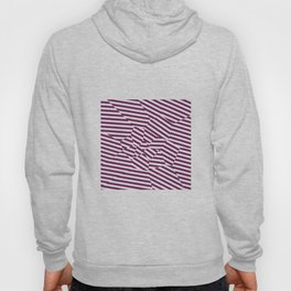 Mulberry Strip - Voronoi Stripes Hoody
