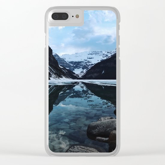 Lake Louise at sunset Clear iPhone Case