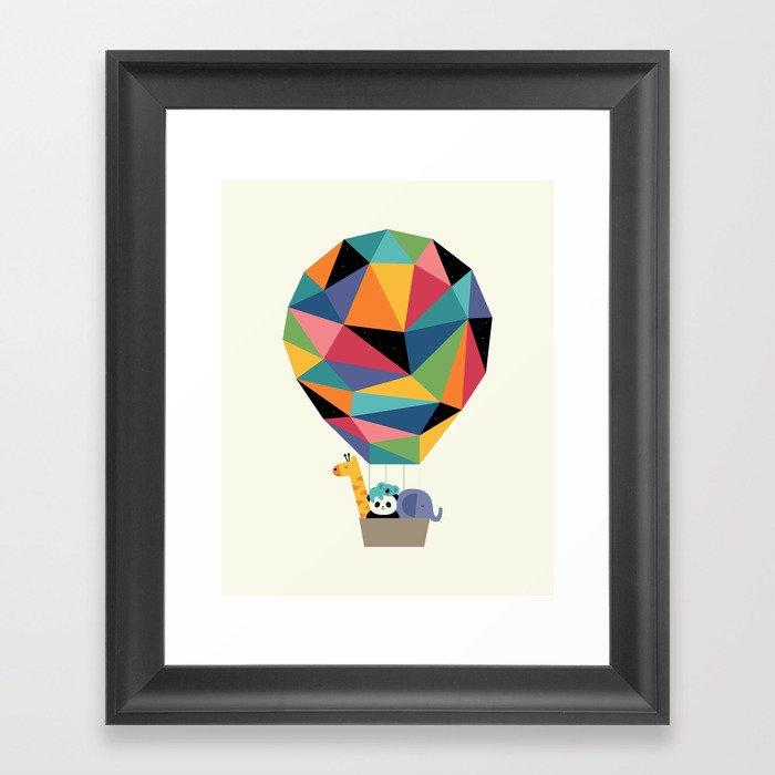Fly High Together Framed Art Print