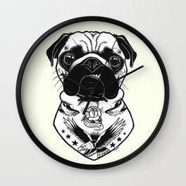 Dog - Tattooed Pug Wall Clock