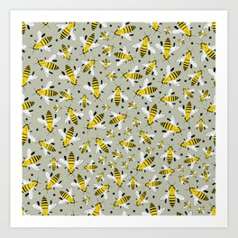 Bee pollinators Art Print