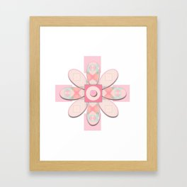 Buttons and Bows Flower 2 Framed Art Print