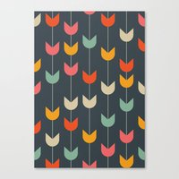 tulips Canvas Prints featuring Tulips by Tracie Andrews