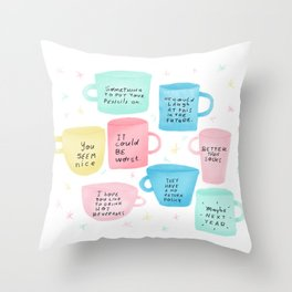 Disapoiment mugs Throw Pillow