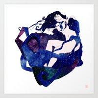 celestial Art Prints featuring Celestial by Stevyn Llewellyn