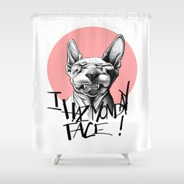 I Haz Monday Face Shower Curtain