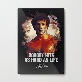 Rocky Balboa - Sylvester Stallone Metal Print