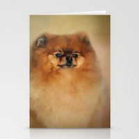 pomeranian Stationery Cards featuring Proud Pomeranian by Jai Johnson