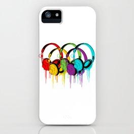 Colorful Headphones iPhone Case