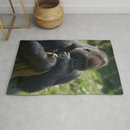 Silverback Gorilla And His Blanket Rug