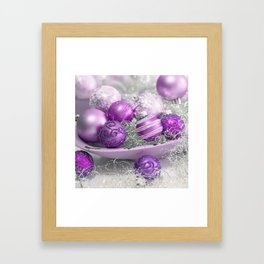 Fancy pink christmas Framed Art Print