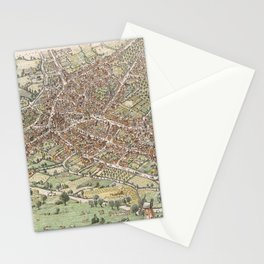 Vintage Pictorial Map of Birmingham England (1923) Stationery Cards