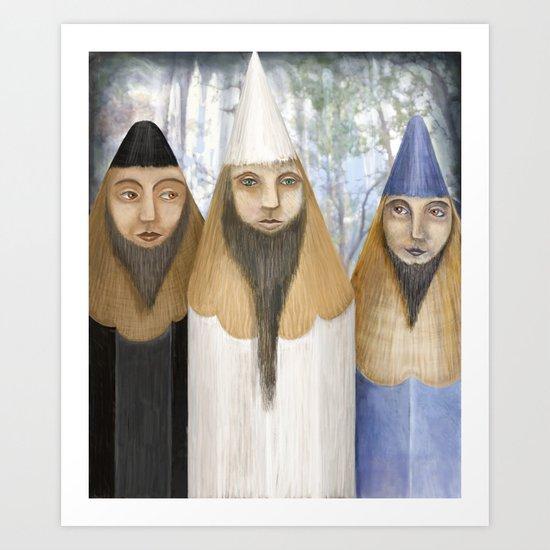 Three Pencilheads Gather Together Art Print