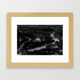 The Shrine of Remembrance and St Kilda Road from the Eureka Skydeck Framed Art Print