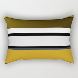 Golden Stripes Pattern Rectangular Pillow