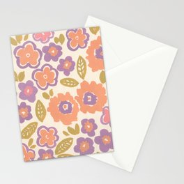 1960 Floral Stationery Cards
