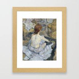 """Henri de Toulouse-Lautrec """"Rousse (La Toilette)"""" Framed Art Print"""