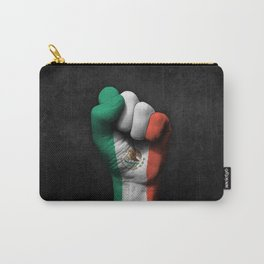 Mexican Flag on a Raised Clenched Fist Carry-All Pouch
