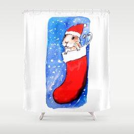 Christmas Guinea Pig Shower Curtain