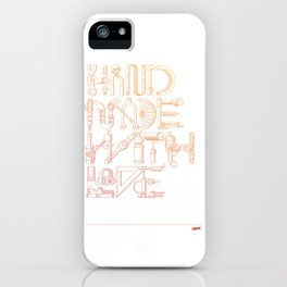 Hand Made With Love iPhone Case